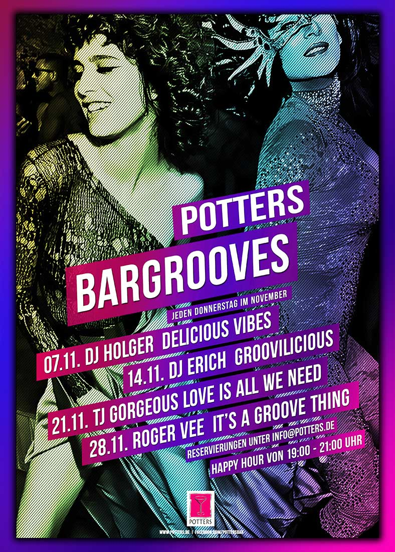 Potters Bargrooves Flyer November 2019